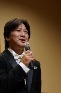 三木貴徳、発表会にてお客様にご挨拶
